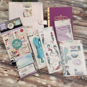 HTF RARE Recollections Mermaid Planner Bundle 42pc